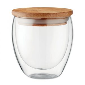 Verre couvercle bambou Full Ace